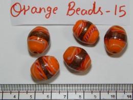 Orange Beads 15