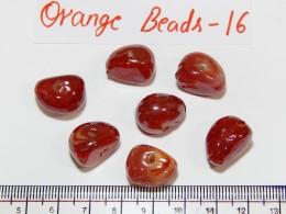 Orange Beads 16