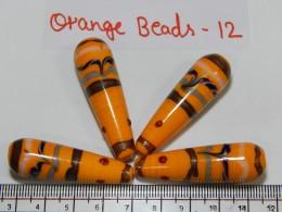 Orange Beads 12